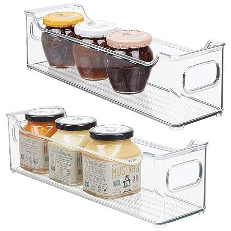 mDesign Juego de 2 fiambreras para el frigorífico – Cajas de ...