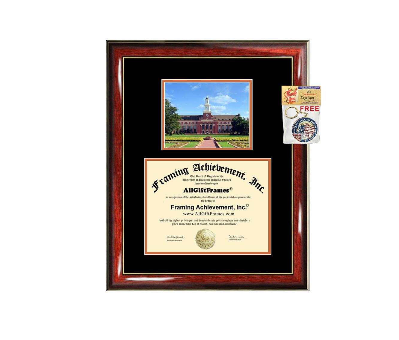 Oklahoma State University Diploma Frame OSU Graduation Degree Campus Bachelor Master PhD Doctorate School Double Mat Graduation Certificate Plaque University Framing Graduate Gift Collegiate