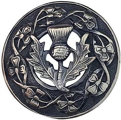 Hombres Kilt Broche Tela Escocesa Cardo Escudo Varios Acabado 3 ...