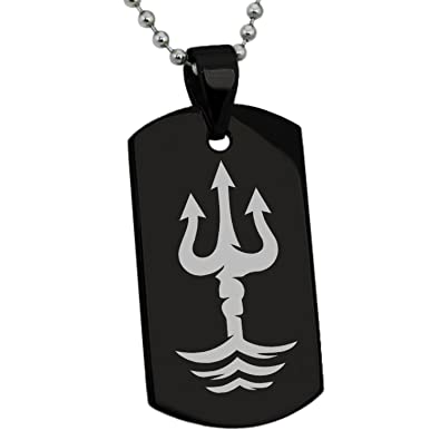 Tioneer Black Stainless Steel Poseidon Greek God of Sea