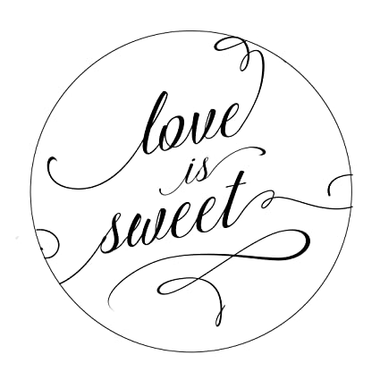amazon com love is sweet favor stickers elegant wedding favor
