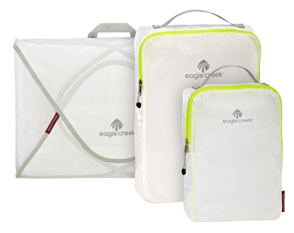 Eagle Creek Pack-It Specter Packing Organizer Starter Set , White/Strobe, Set of 3 by Eagle Creek