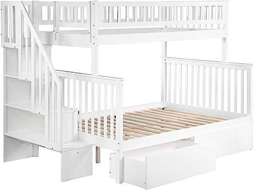 Atlantic Furniture Woodland Staircase Bunk Urban Bed Drawer