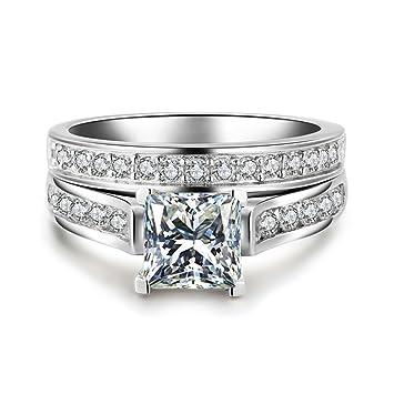 Amazon.com: Anillos de boda para mujer, anillos de ...