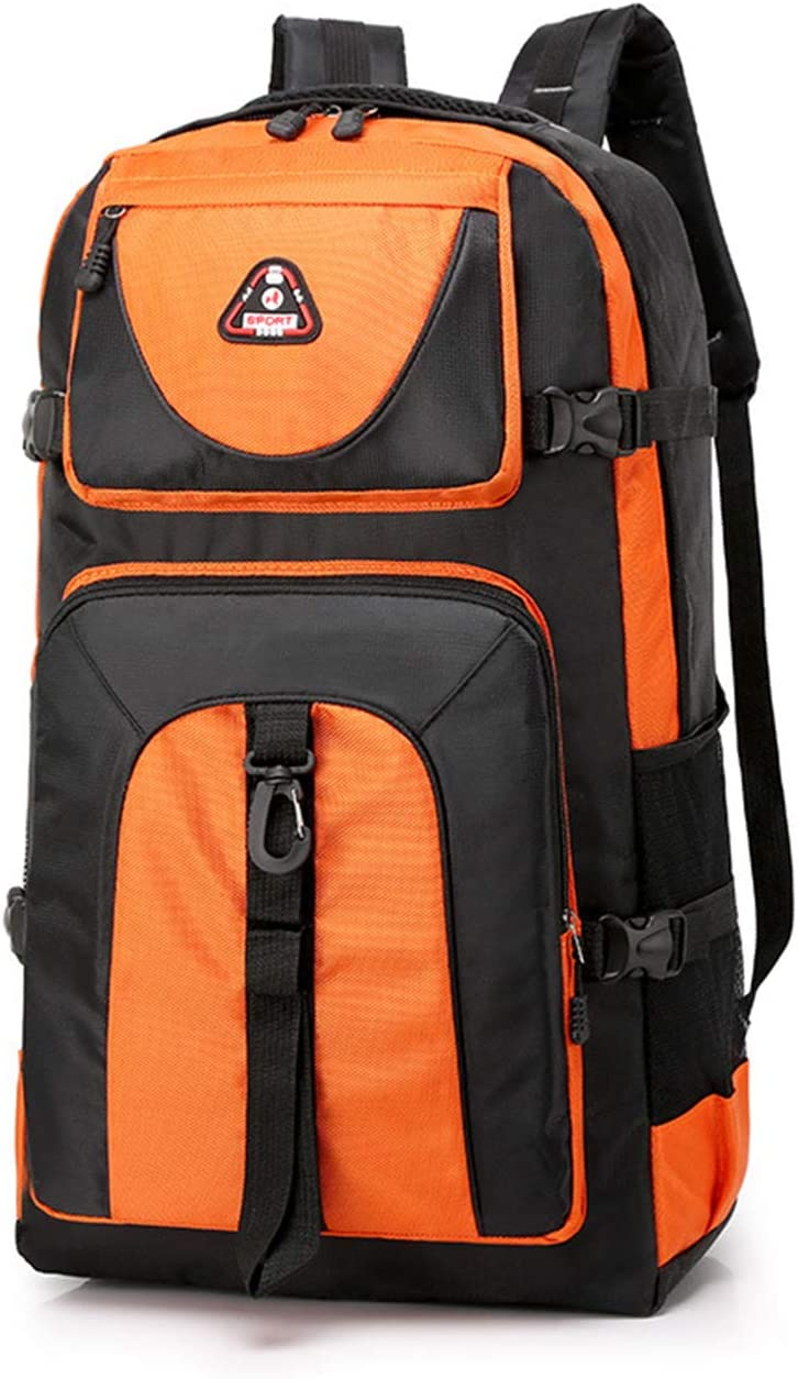 BAG Large Capacity 60L Waterproof Mountaineering Nylon Sports Travel Backpack Backpack Sports Fitness Backpack Student Orange
