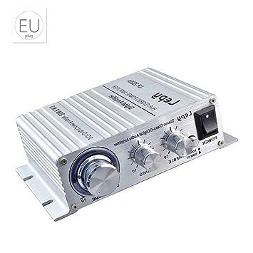 fish Reproductor de música Protección de circuitos Booster Estéreo Digital Power amplificador de altavoz reforzador de