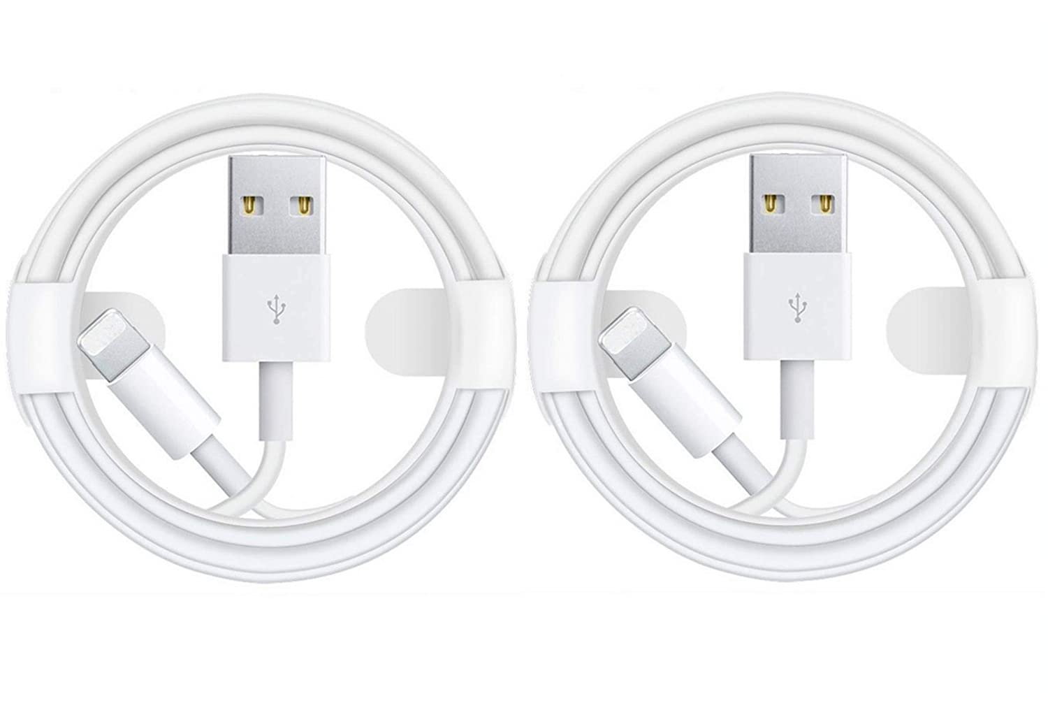 2Pack iPhone Charger Cable,Apple MFi Certified Chargers for iPhone/iPad USB Wall Fast Charging to Lightning Cable Compatible with iPhone 12 11 Pro Max XS XR X 8 7 6S 6 Plus SE 5S Connector Data Sync