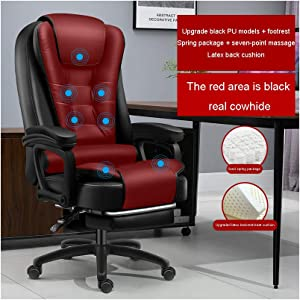 Office Chair Ergonomic Desk Chair,Business Chair with Massage Function,Lumbar Support Modern Executive Adjustable Stool Rolling Swivel Chair