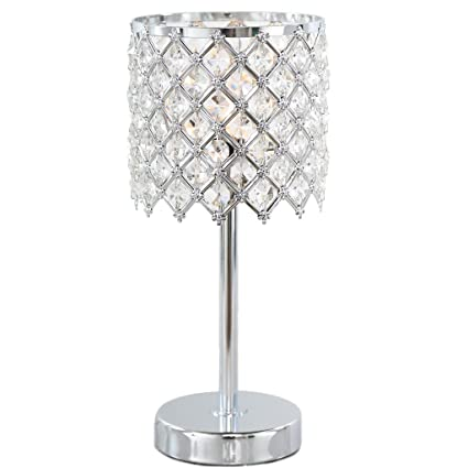 River of goods 13 25 h crystal glam accent lamp clear