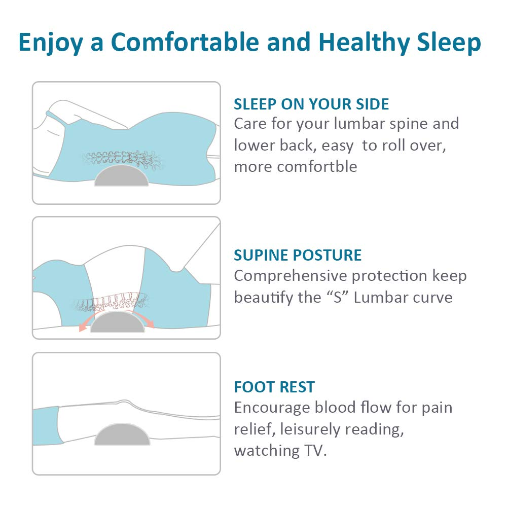 Adjustable Height Soft Memory Foam & Pearl Cotton Lower Back ...