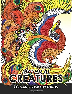 Mythical Creatures Coloring Books For Adults Animals Adult Book Pegasus Unicorn