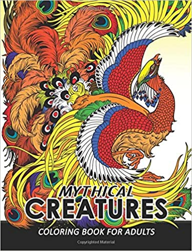 Amazon Mythical Creatures Coloring Books For Adults Animals Adult Book Pegasus Unicorn Dragon HydraCentaur Phoenix