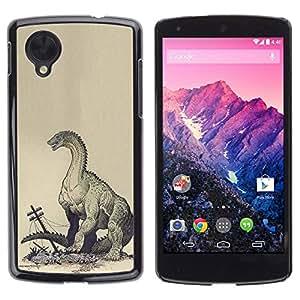 TopCaseStore / la caja del caucho duro de la cubierta de protección de la piel - Monster Kraken Destruction - LG Google Nexus 5 D820 D821