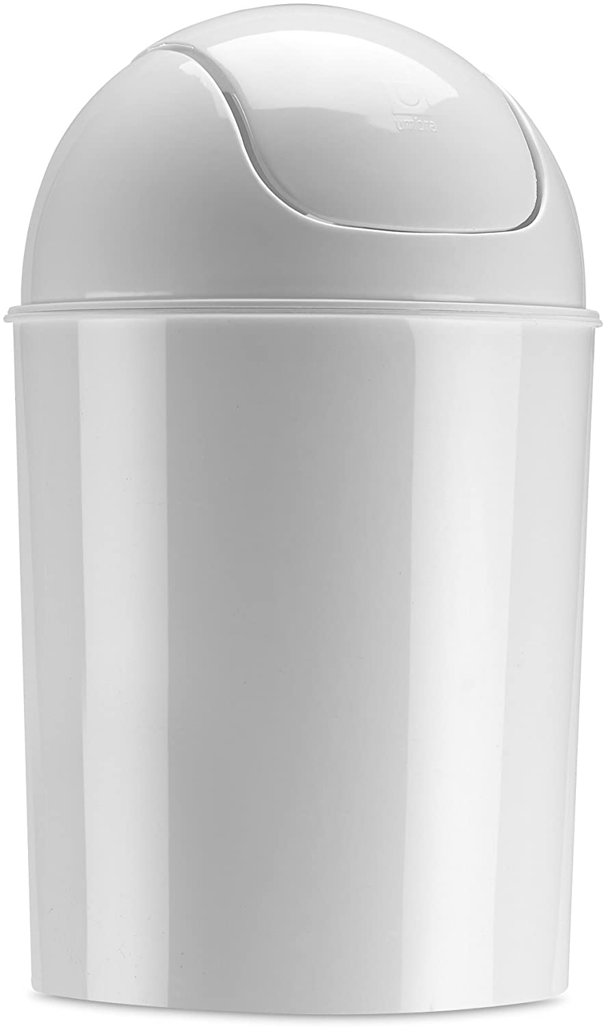Umbra Mini Waste Can 1-1/2 Gallon with Swing Lid, White
