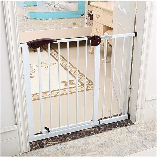 Barrera de Seguridad Escalera Puerta de Seguridad Auto Cerrado la Seguridad Puerta del Bebé, Puerta del Perro, Walk-Thru Fácil Puerta Infantil para la Casa, Escalera, Puertas y Pasillos: Amazon.es: Hogar