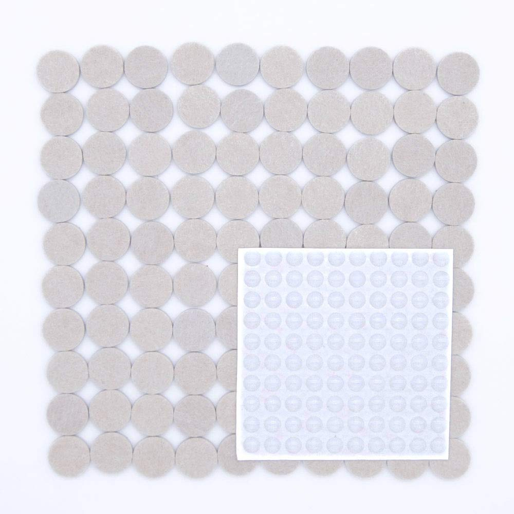 Pazi 200-pezzi Scivolo Mobili 100 Feltrini 25mm e 100 Paracolpi Piedini Adesivi Gomma Trasparenti