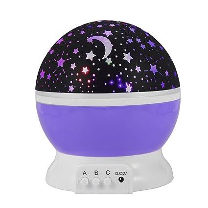 Lámpara Infantil, Regalo Para Niñas Lámpara Proyector Rotación 360 ...