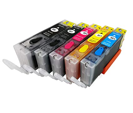 HEMEI 5PK PGI-550 CLI-551 - Cartucho de tinta compatible para ...