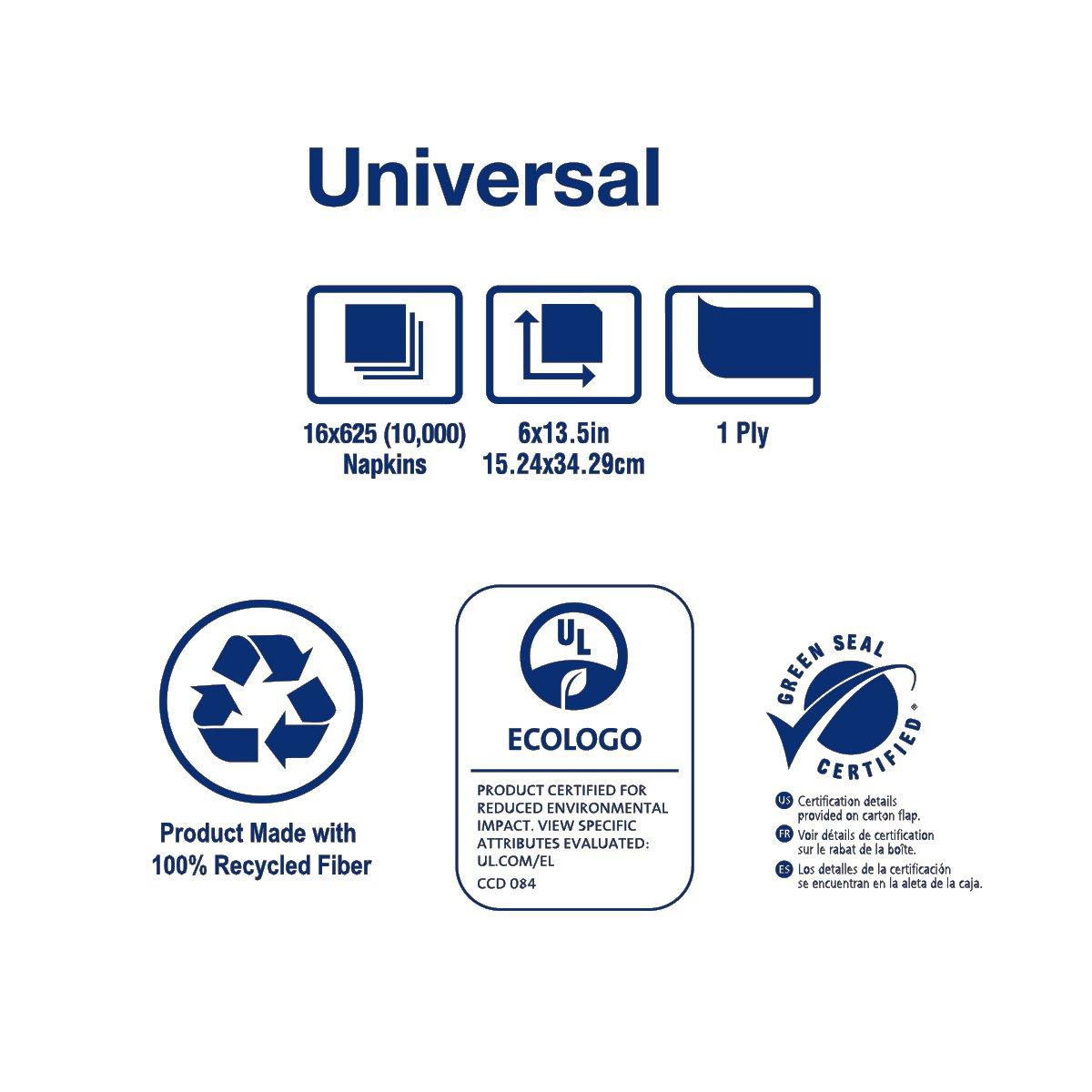 Amazon.com: Tork D3056B Universal Tallfold Dispenser Napkin, 1-Ply, 13.5