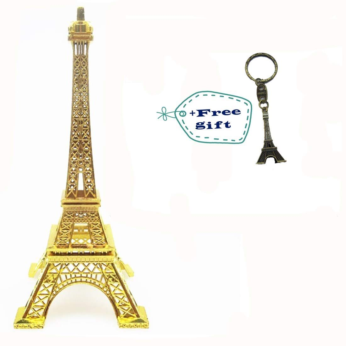 Eiffel Tower Paris France Metal Stand Statue Model for Home Decor or Wedding Theme (10 Inches) EST