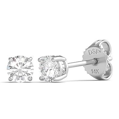 f988a9ca02c8 Diamond Studs Forever - Pendientes de diamantes con peso total de 1 5  quilates GH SI1-SI2 oro blanco 14K  Amazon.es  Joyería