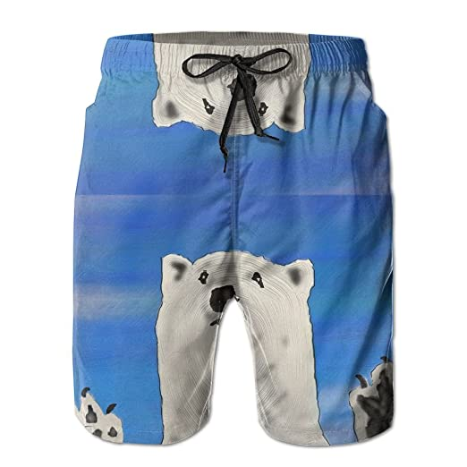 be7804848a Polar Bear Men's Swim Trunks Quick Dry Bathing Suits Summer Casual Surfing  Board Shorts