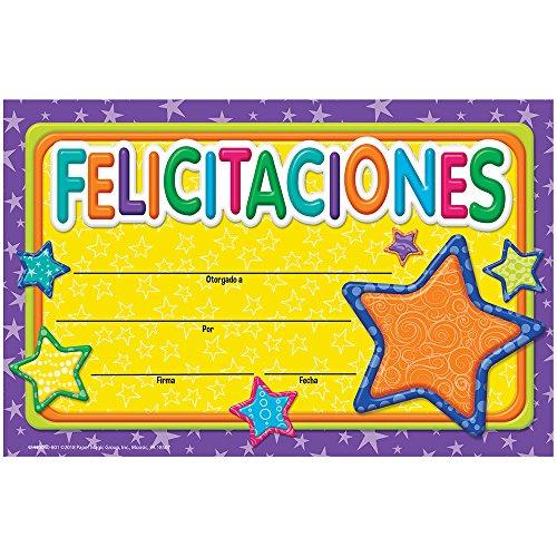 Eureka Classroom Recognition Awards - Color My World Spanish Congratulations