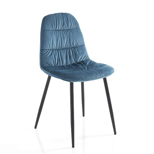 Tomasucci Silla Fluffy Blue Juego de 4 sillas: Amazon.es: Hogar
