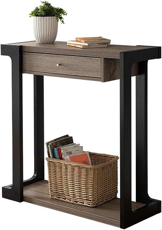 YNN Table Mesa Consola Estantería Simple Moderna Mesa Estrecha ...