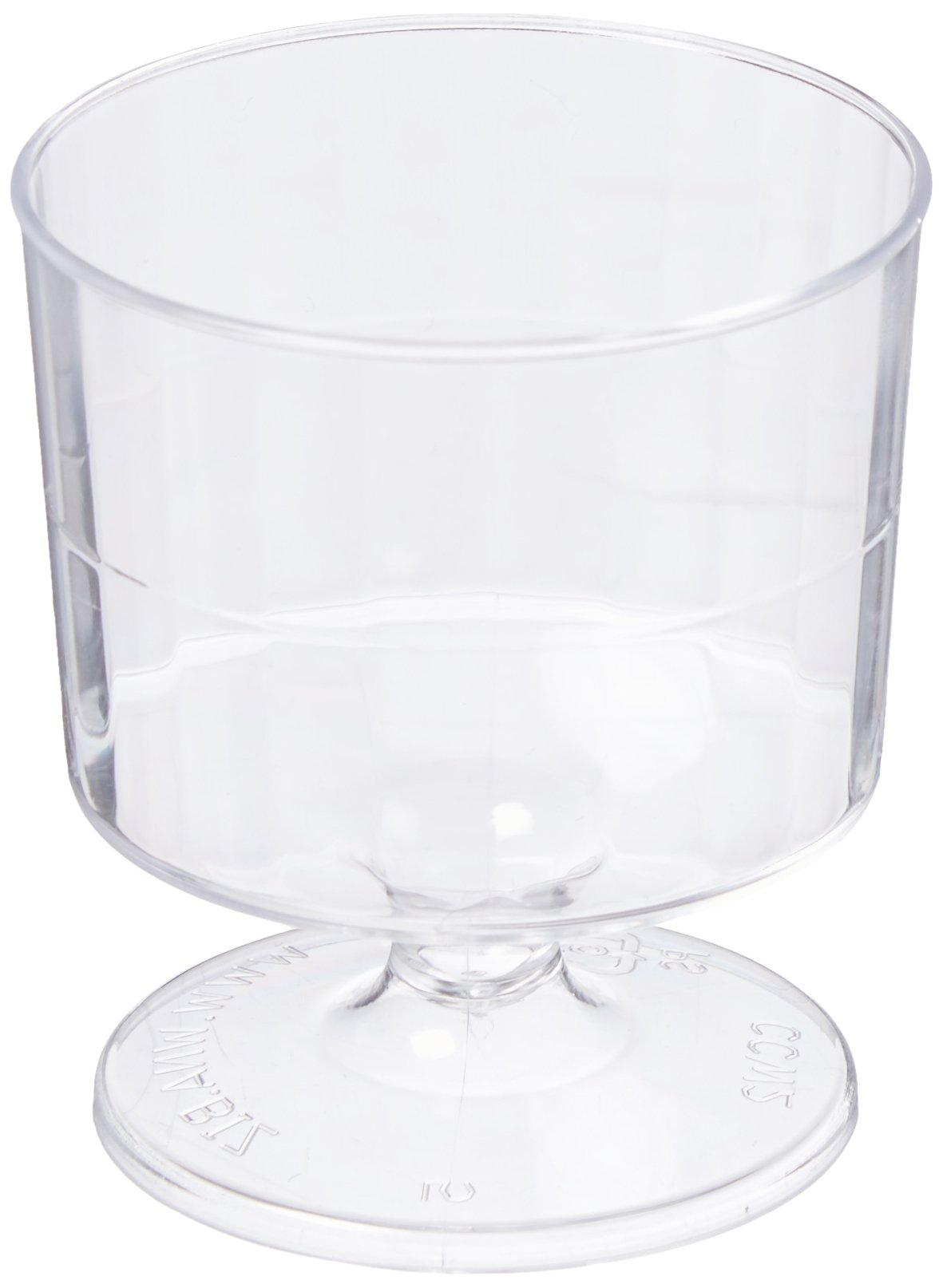 Classicware Rigid Plastic 1-Piece Pedestal Wine Glass, 2 Ounce Capacity, Clear (240-Count) by WNA