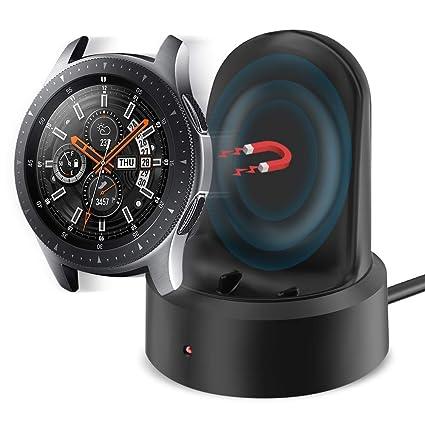 KIMILAR Cargador Compatible con Samsung Galaxy Watch 46mm / 42mm / Gear S3 Cable, Base de Carga USB Repuesto Cargador para Galaxy Watch 42mm/46mm/Gear ...