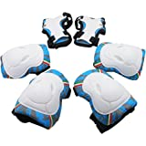 Protective Gear, Knee Elbow Pads and Wrist Child's Pad Set for Inline Roller Skating Biking Sports Safe Guard