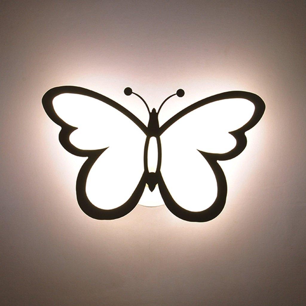 Unbekannt Met Love Schlafzimmer Wandleuchte kreative Wohnzimmer Hintergrund Wand Gang Korridor Treppe Schmetterling Männer und Frauen Kinderzimmer Deckenleuchte