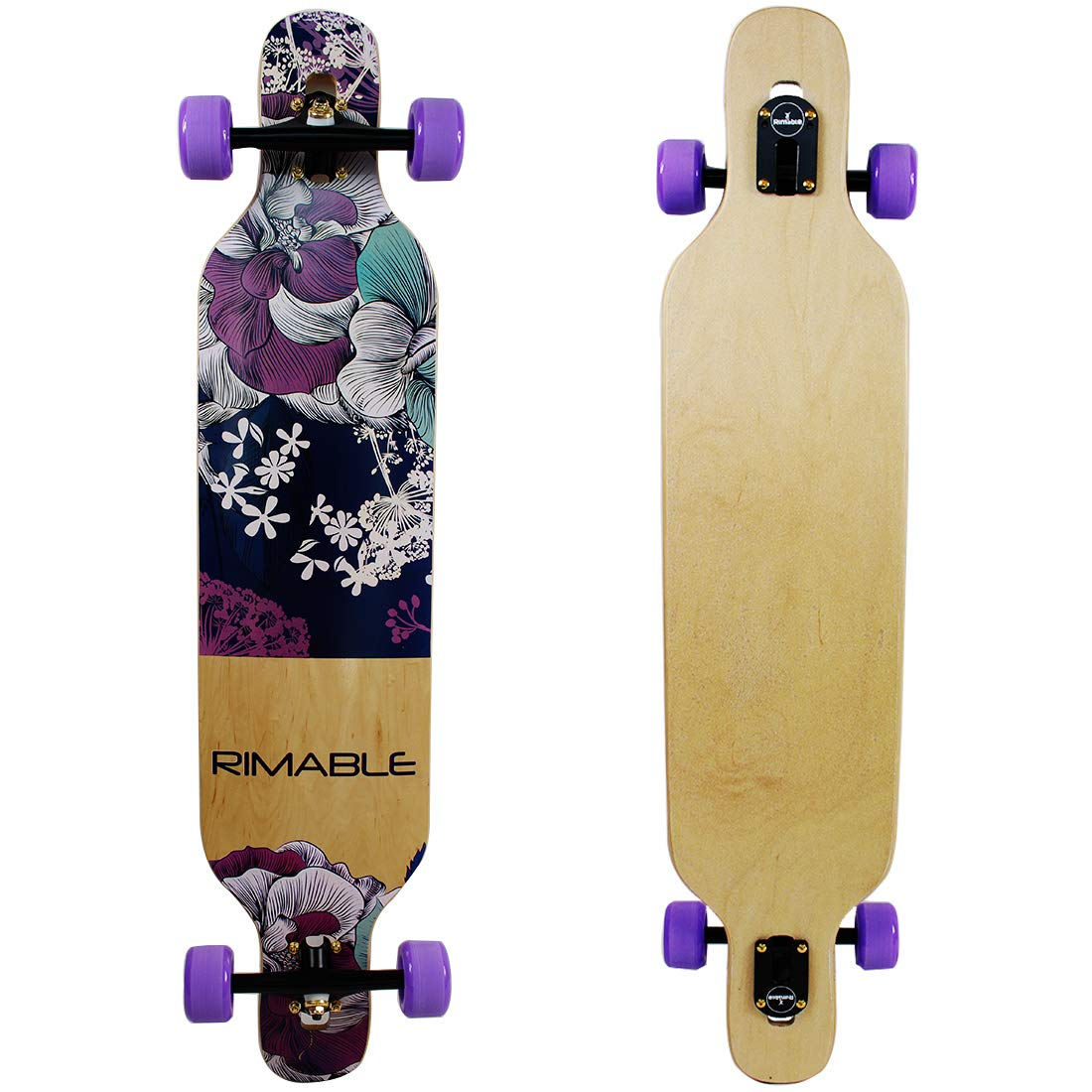 RIMABLE Freeride Concave Deck Longboard Blue by RIMABLE