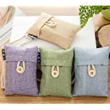 EWALKING Air Purifying Bamboo Charcoal Deodorizer Bag 4 packs*100g for Fridge,Freezers,Closet,Car,Shoes,kitchens,basements,bedrooms,living areas
