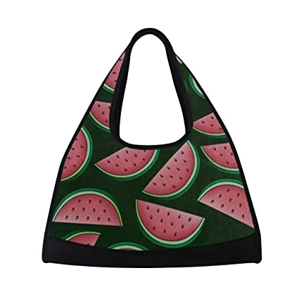 Amazon.com: Bolsa de gimnasio, sandía, fruta, verde, para ...