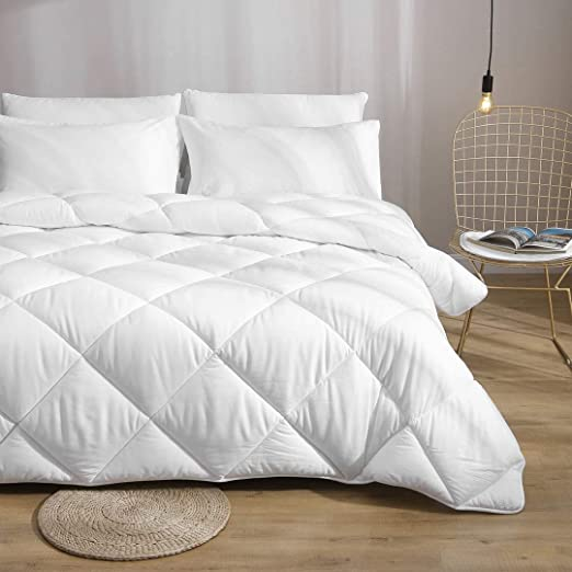 White Ultra-Soft Skin-Friendly Cloud Fluffy Microfiber Comforter Duvet Medium Warm for All Season DWR 100/% Cotton Down Alternative Comforter Twin