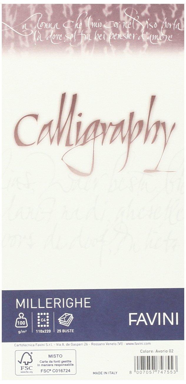 Favini A57Q424 Buste Calligraphy Millerighe