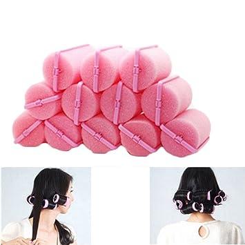 12pcs/bolsa Magic espuma esponja rizadores para el cabello cojín de espuma Rodillos de Peluquería Herramienta de Twist: Amazon.es: Belleza