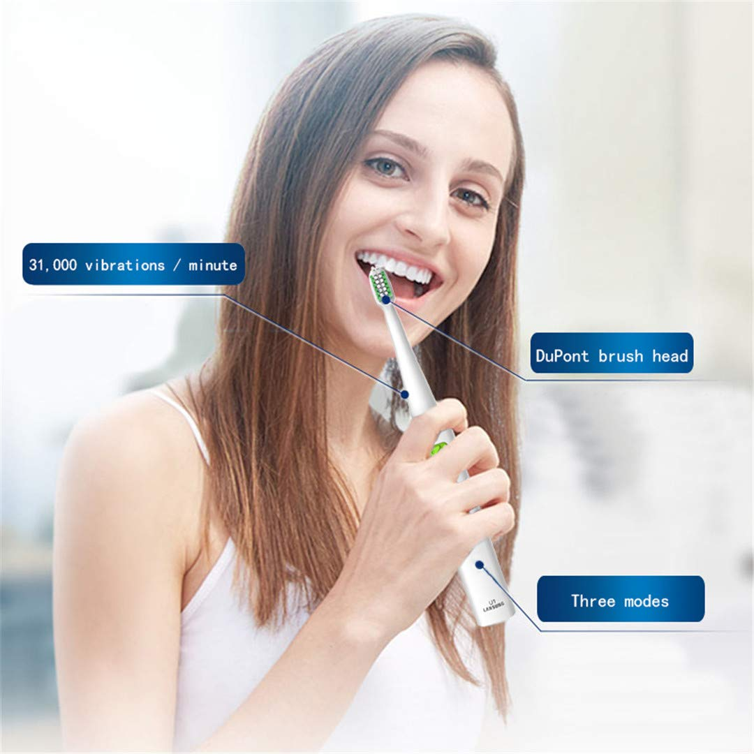 Amazon.com: U1 Oral Hygiene Electric Toothbrush Tooth Brush Rechargeable Electric Toothbrush Ultra Toothbrush 5 8 heads full green: Beauty