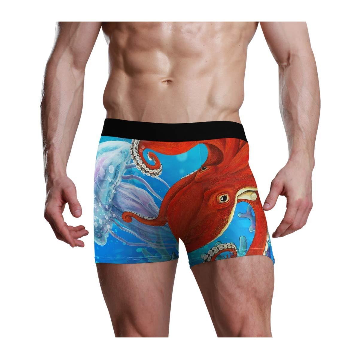 CaTaKu Ocean Sea Kraken Mens Boxer Briefs Underwear S-XL