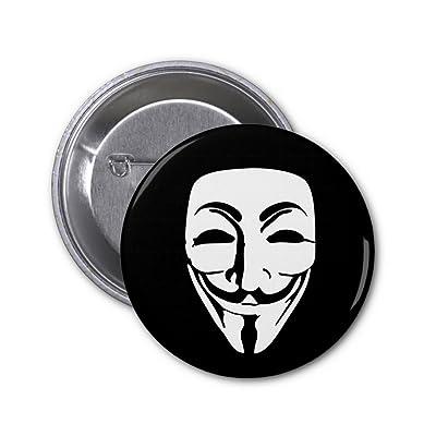 Badge bouton épinglette 25mm masque Anonymous