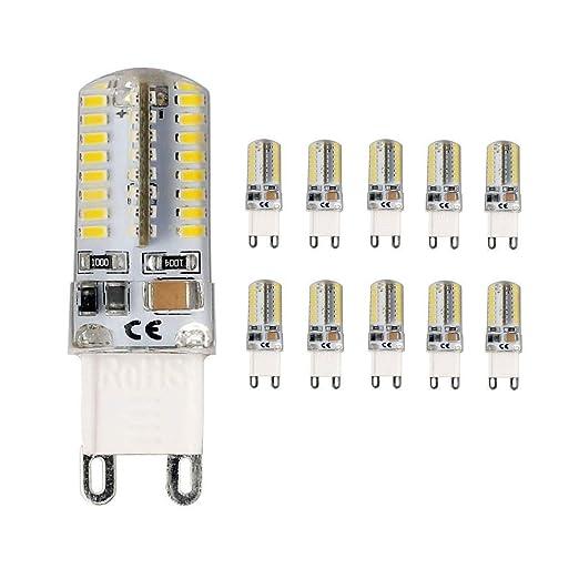 vlio G9 4 W 64 SMD 3014 LED 30 W bombillas halógenas equivalente, 300lm,