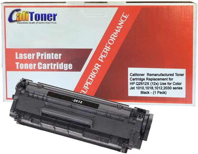 Calitoner Compatible Laser Toner Cartridge Replacement for HP Q2612X (HP 12X) Black- (1 Pack)