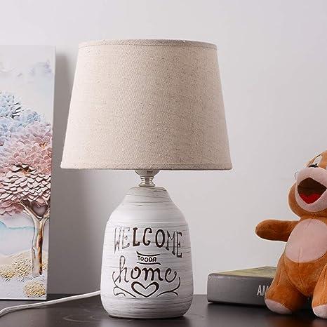 Ceramic Table Lamp, Bedroom Living Room Lamp for Desk ...