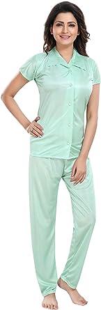 Be You Camisa de Raso para Mujer y Traje de Pijama (Verde ...