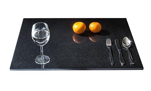 stein kchenplatte arbeitsplatte servierplatte kchenarbeitsplatte aus seltenem schwarzen granit naturstein unikat steinmetzarbeit massiv - Kchen Mit Weien Schrnken Und Arbeitsplatten Aus Granit