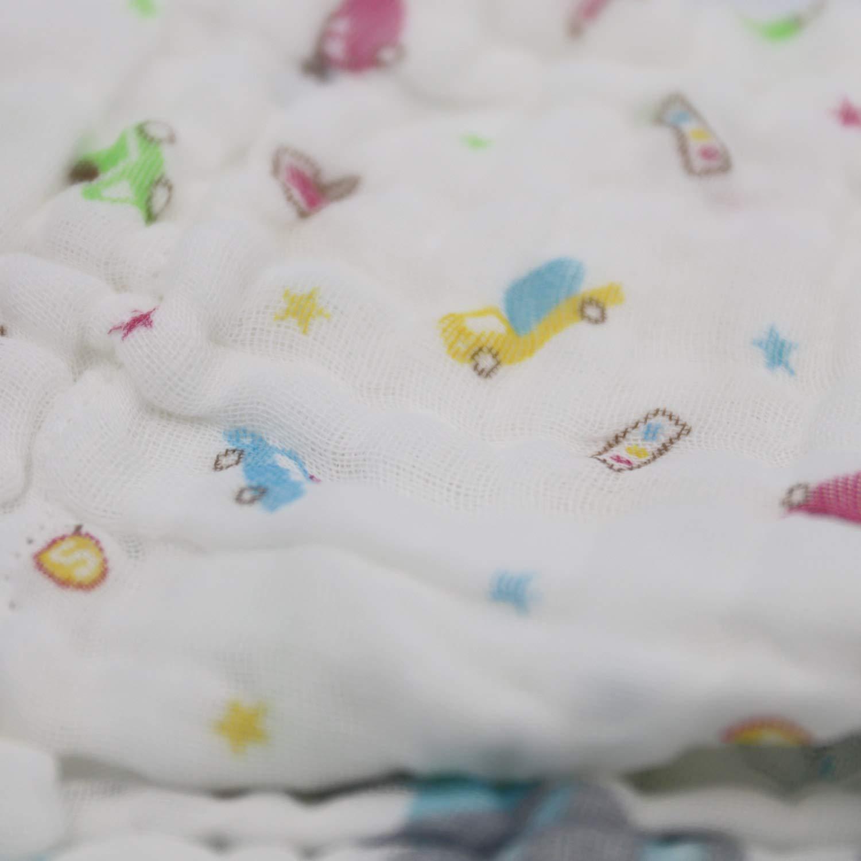 ViVidLife 10 PCS Toallitas De Gasa Bebe Toallas Pa/ños de muselina Muselina Facial Infantil Algod/ón Dibujos Animados Pa/ños de Muselina Beb/é Pa/ñuelo para Ni/ños Toalla Facial Infantil 30 CM 30