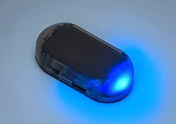 Sunnytech 1pc Solar Car Burglar Alarm 6LED Flashing Anti-Theft Warning Light GSPX D141 Blue