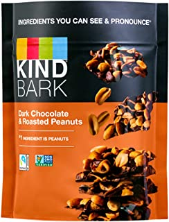 product image for KIND BARK Dark Chocolate & Roasted Peanuts, 3.6-Ounce Bag (Pack of 8)